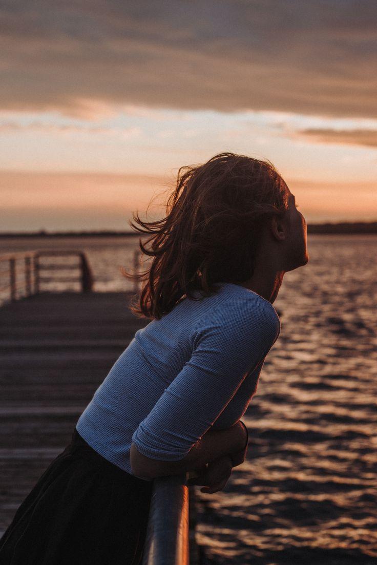 Freiheit den Sonnenuntergang beobachten Ozean   romantischer Moment   urban romantix   Fitz ….