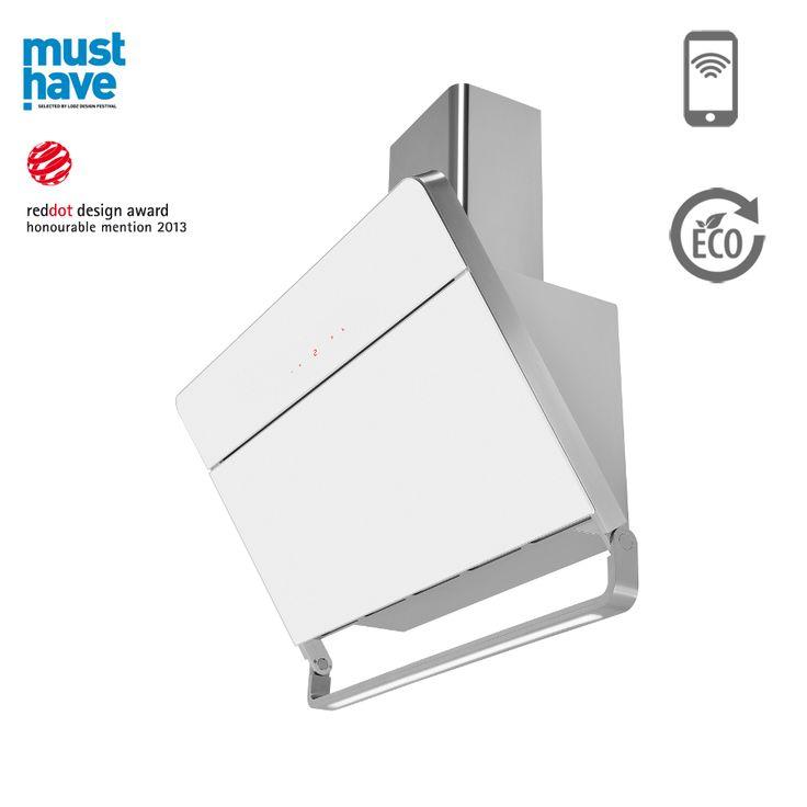 Okap kominowy Ciarko Design Illumia biały http://www.sklep.ciarkodesign.pl/e-sklep/okapy-kominowe/illumia-white-detail #DESIGN #KITCHEN #OKAP #HOOD