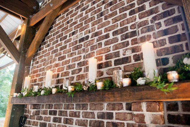 Pretty rustic mantle  Amada & Marcus | Hyde Park | The Wedding Row | The Wedding Row
