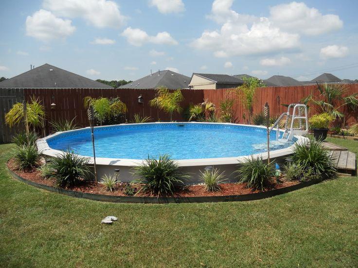 I like the landscape idea around this pool