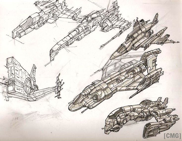 Space Ships 8 by MeckanicalMind.deviantart.com