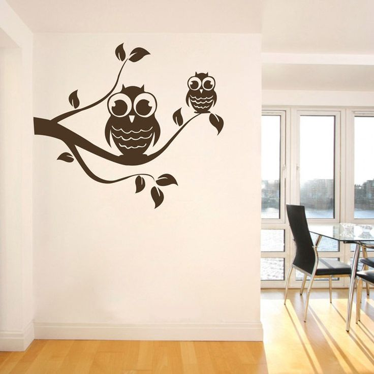 Birds Owl Tree Wall Decal Black DIY Vinyl Removable Mural Sticker Nursery Decor #ColorfulHall #ArtsCraftsMissionStyle