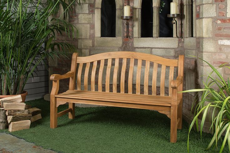 6ft Solid Teak Tenbury Garden Bench - FSC Teak Hardwood Bench with Free Plaque Link: http://www.hayesgardenworld.co.uk/product/6ft-solid-teak-tenbury-garden-bench-fsc-teak-hardwood-bench-free-plaque