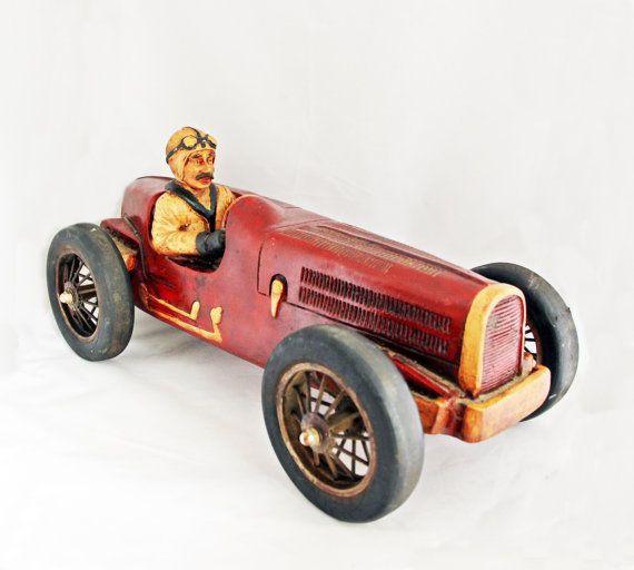 Vintage Toy Car Bugatti Type 59 Stunning Display by GrandpasMarket