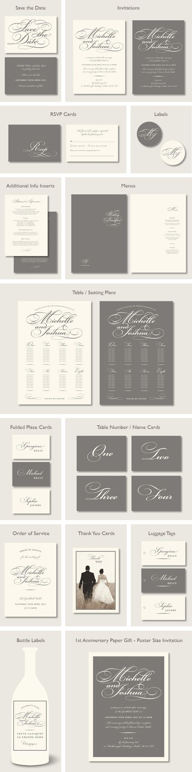 Bickham Script wedding stationery