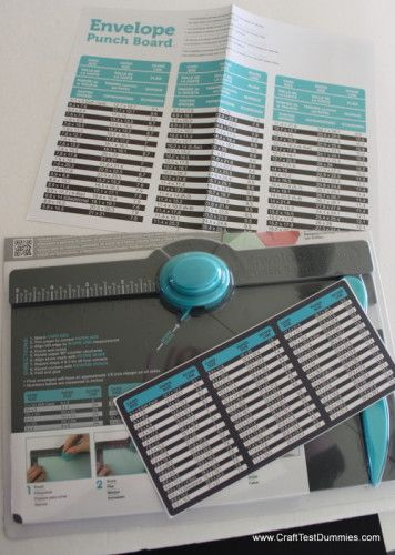 Go to her website to find the link to printing your own correction measurements. (Or follow the link to WRMK for a sticker to be sent to you.) {Update on the Envelope Punch Board From We R Memory Keepers. }