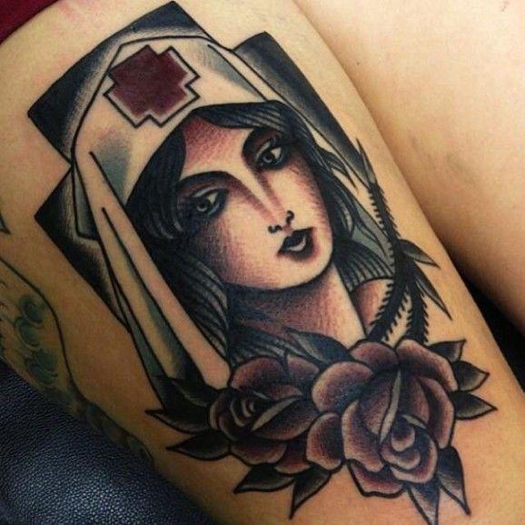 Tattoo Ideas Nurse: Old School Nurse Tattoo - Google Search