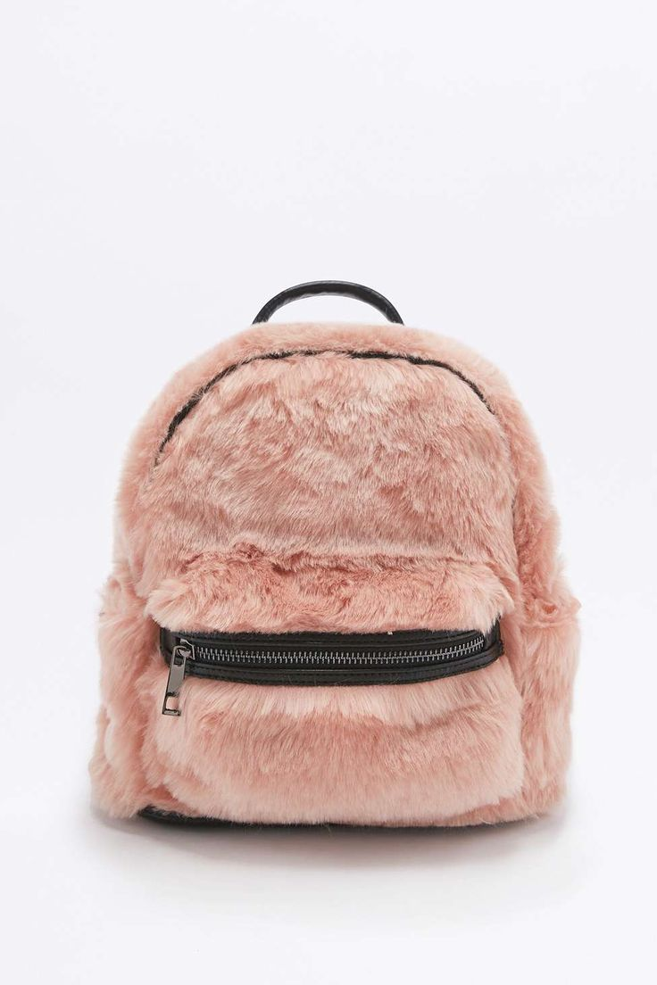 Faux-Fur Mini Backpack    all I can think about is how soft it is...