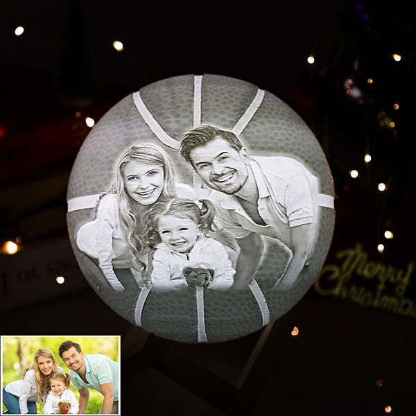 Personalized Photo 3d Basketball Shape 2 Color In 2020 Robust Design Shapes Birthday Gifts For Her