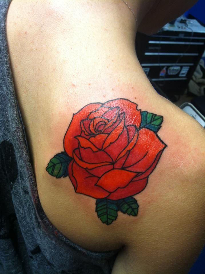 rose tattoos | Traditional Rose Tattoo by antsivik