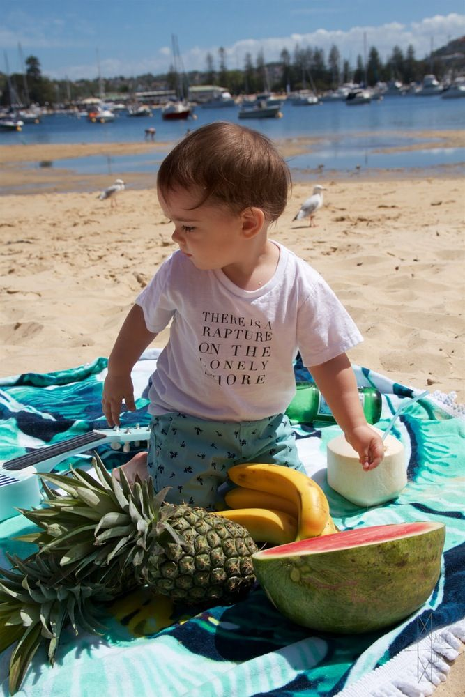 Manuel Montt Kids - There is a Rapture on the Lonely Shore #lordbyron #organic #baby #tropical #beachbaby #byron #babypoet