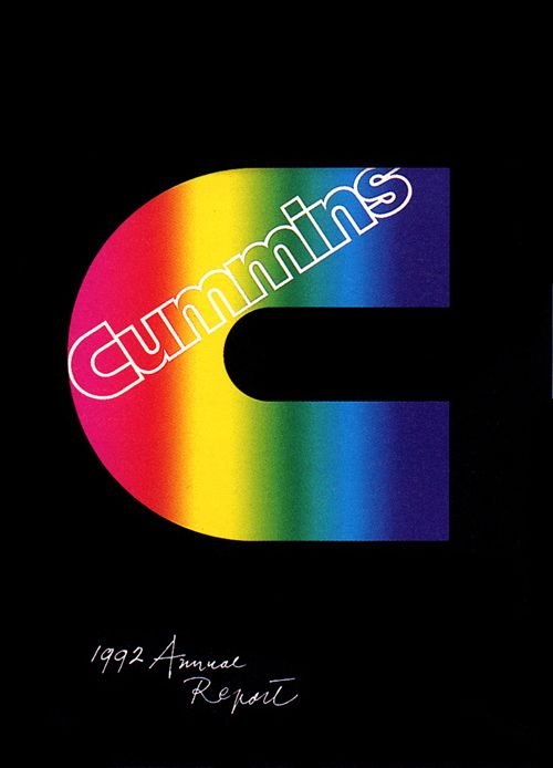 Paul Rand _ Cummins Annual Report (1992)