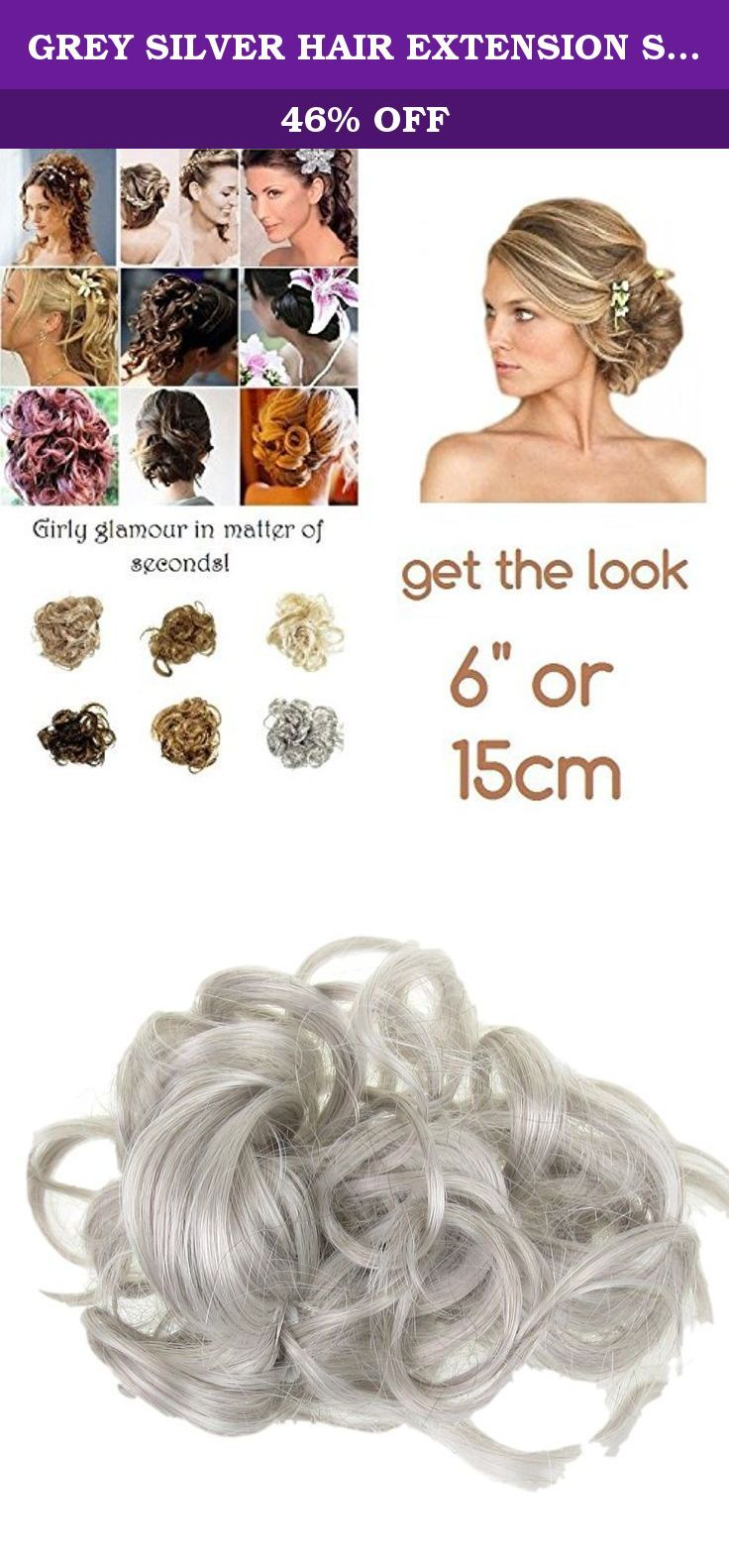GREY SILVER HAIR EXTENSION SCRUNCHIE UPDO DOWN DO TOPPER 0N ELASTIC WHIRLY FUN C24. Instant Girly Curly Style! A simple, little, luxurious, body creating, scrunchie. Twist on elastic so that you can vary the shape, anyone can manage the Bardot famous look. Never have a bad hair day again. Try this Multi Use curly Twister! Twister is a fabulous product you can create an updo or large bun in seconds! Wear two for an even higher curly messy look. Wear as an up do twisted round a high pony…