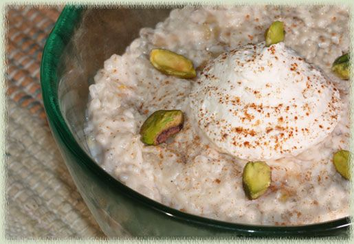 Rice Pudding With Bananas & Pistachio Nuts | Crockpot & Freezer Meals...