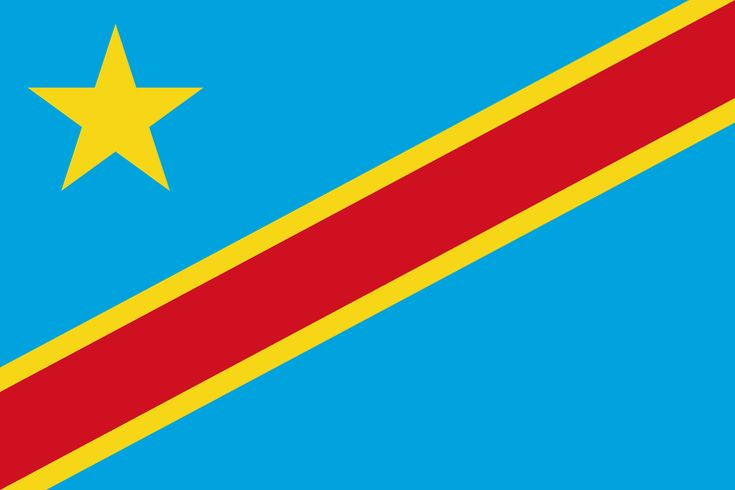 Flag of the Democratic Republic of Congo