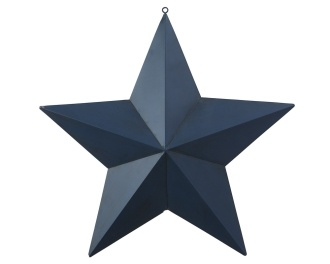 Cottage Collection Metal Star, Blue