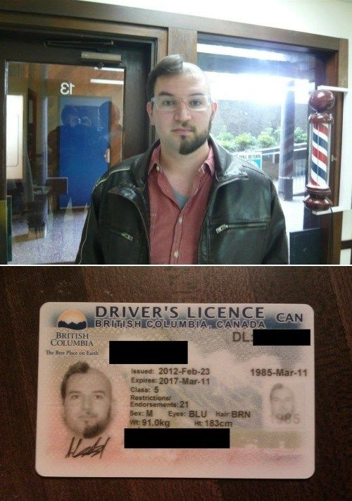 This is a real drivers license. Oh, Canada indeed.
