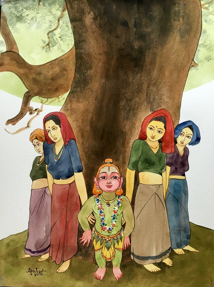 'Chipko' Krishna by Keshav The Chipko movement or chipko