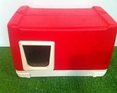 Cat Pod/ 2 Doors, Outdoor Cat House, shelter, bed, condo. $129.00, via ...