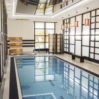 #Swimming #Pools Переливной бетонный бассейн крытый