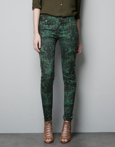PRINTED CASHMERE TROUSERS - Trousers - Woman - ZARA United States