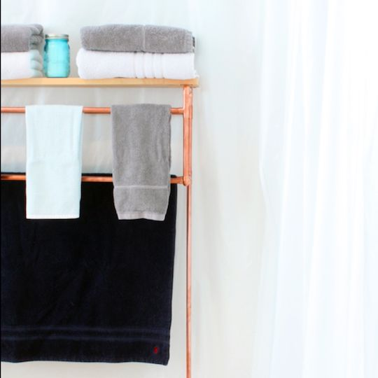 How To Make A Copper Pipe Towel Rack For A Home Sweet