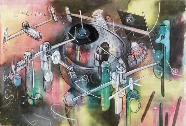 ", c. 1957. oil on canvas, 6' 7-1/2"" x 9' 7"" (201.9 cm x 292.1 cm)."