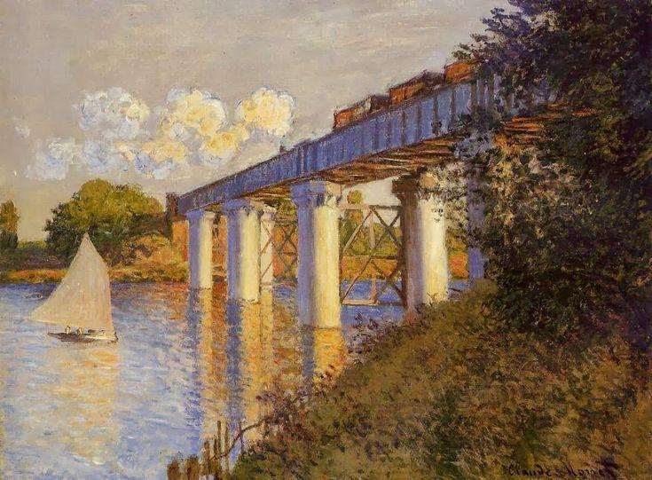 The Railway Bridge at Argenteuil, Claude Monet, 1874, Philadelphia Museum of Art PA/ Top 7 Summer Destinations of 2016 (From Art)