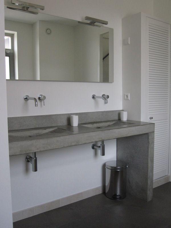25+ beste ideeën over betonnen wastafel op pinterest, Badkamer