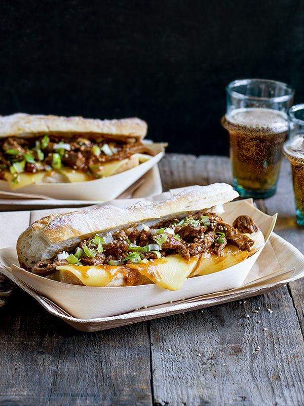 Bulgogi cheese steak sandwich - Philly cheese steak + Korean bulgogi is a marriage made in heaven sometimes known as a koagie. This is indulgent sandwich is super easy to make.