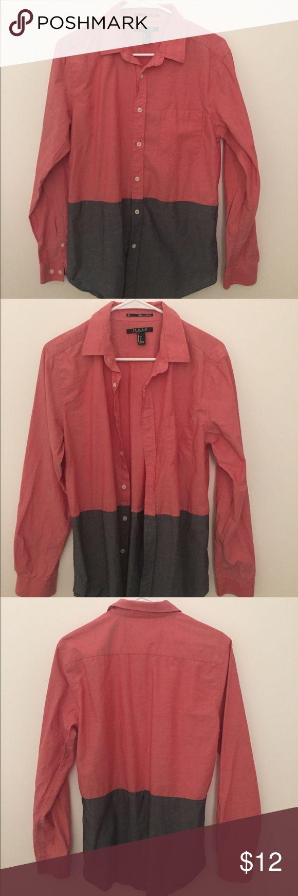Casual two tone button down shirt Gently worn button down shirt from 21 Men 21men Shirts Casual Button Down Shirts