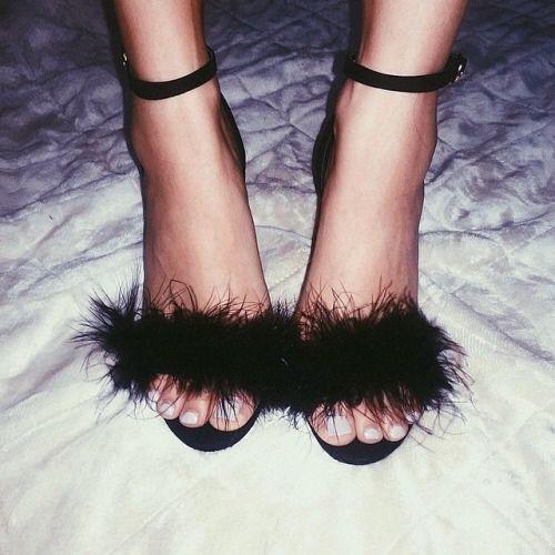 Black statement heels.