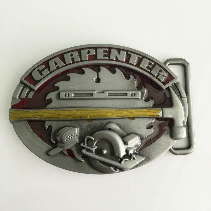 Carpenter  Belt Buckle Oval Fits 4cm Wide Belt