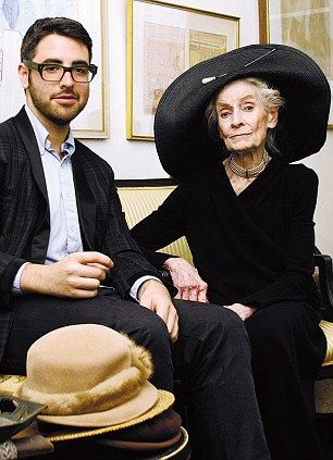 Photographer and blogger Ari Seth Cohen with one of his muses, the late Mimi Weddell