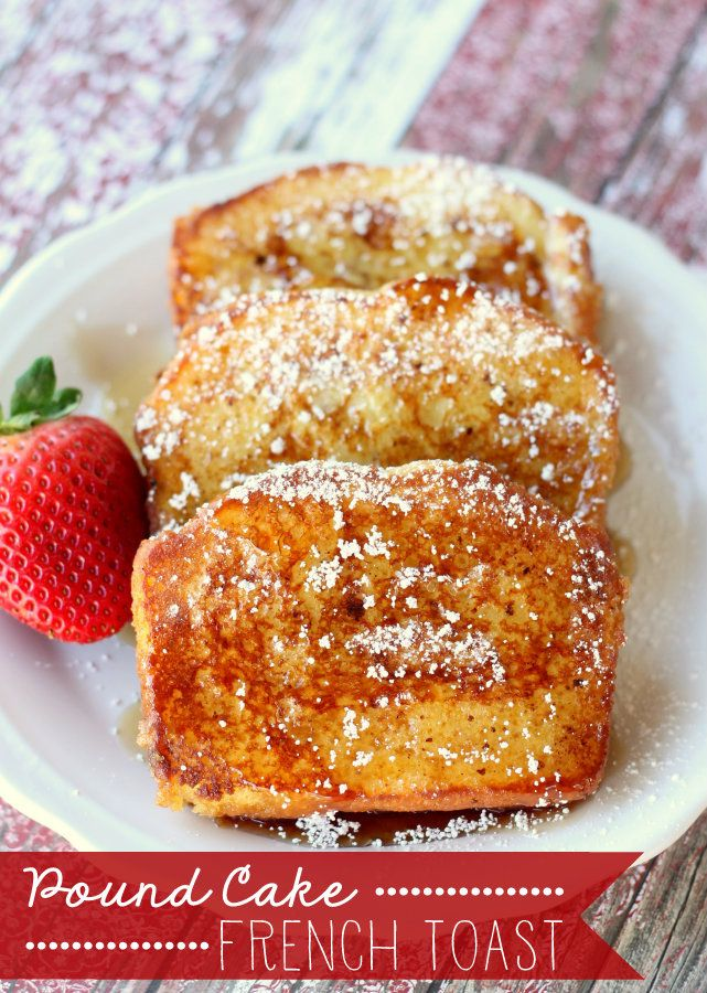 Pound Cake French Toast. Pure heaven!! This is definitely our new favorite way to have french toast! { lilluna.com }