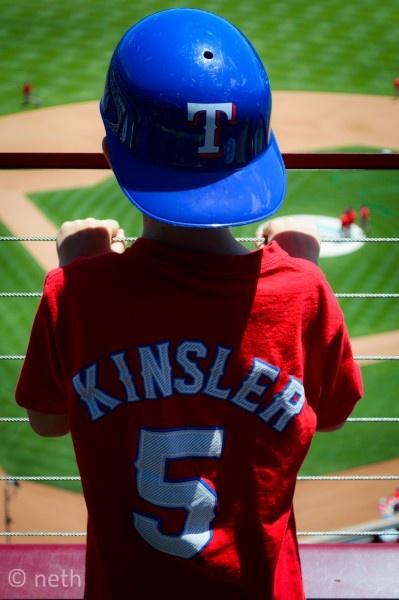 125/365: Kids First Baseball Game  There are days in our lives we will never forget, that will live in our memories forever.  Josh experienced one of those days today at his first Texas Rangers baseball game with the family.  The weather could not of been nicer and the pitcher could of not been more perfect.