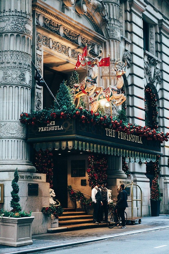 The Peninsula at Christmastime, NYC