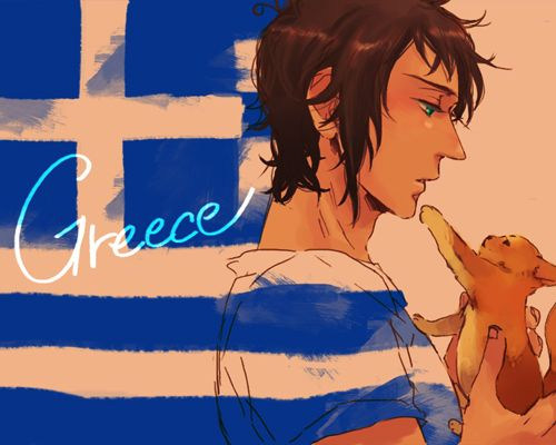 Day 2: This one was hard. But my least favorite character is Greece. He doesn't have a lot of development to me, just... Likes cats and sleeping, and hates Turkey.