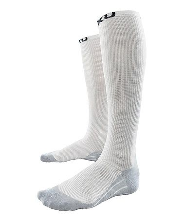Take a look at this White 2XU Race Compression Socks - Women by 2XU on #zulily today!