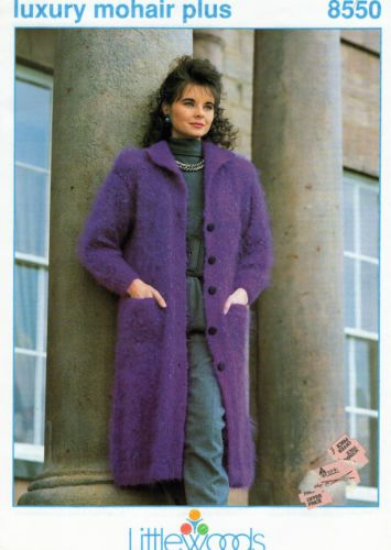 Knitting-Pattern-Littlewoods-8550-LADIES-MOHAIR-JACKET-AND-COAT-30-40