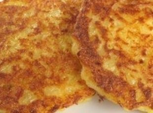 Placki (Polish - Potato Pancake).  I've always felt that the best potato pancakes were made from grated, not mashed, potatoes.  (And grated was the way my mom made them.)  Nice and crunchy on the outside.
