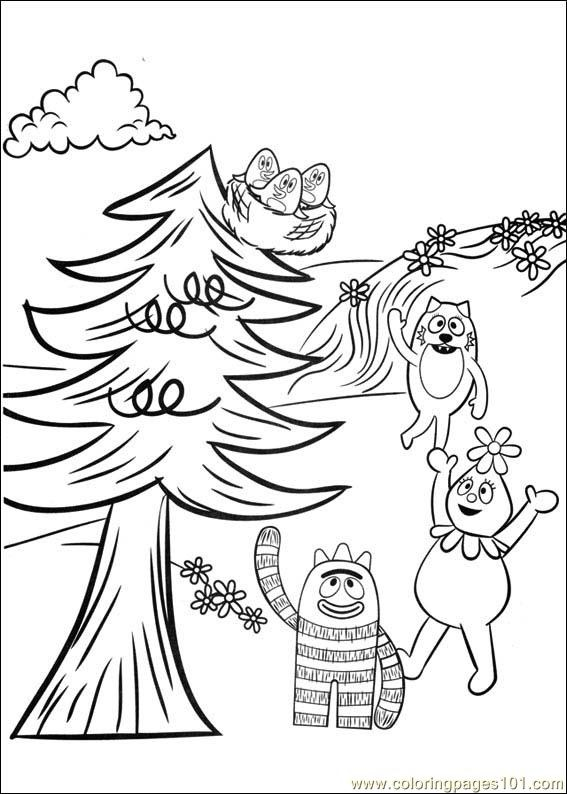 yo gabba gabba tegninger til farvelgning 14 kids coloring coloring pages