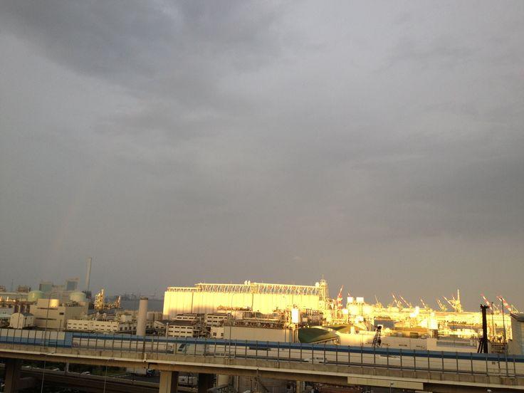 2013,June,evening,rainbow