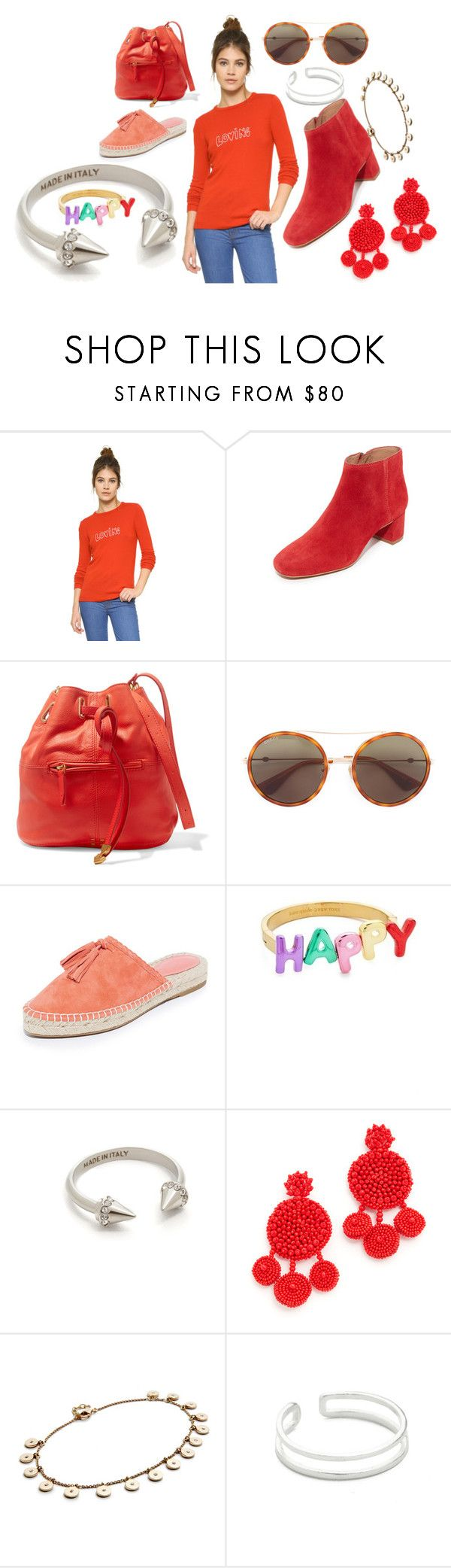 """""""Thatschic"""" by racheal-taylor ❤ liked on Polyvore featuring Bella Freud, Madewell, Jérôme Dreyfuss, Gucci, Joie, Kate Spade, Vita Fede, Mochi, Jacquie Aiche and Maya Magal"""