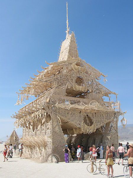 """onehandclap: """" Burning Man temple, 2002. Someday I will attend the Burning Man festival. And I will write a letter on the temple and be there when they burn it. This is going to happen. """""""