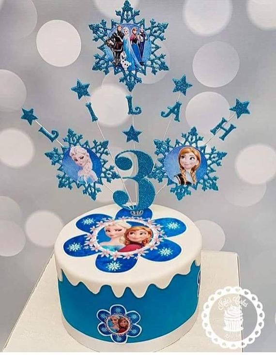 Wondrous Personalised Frozen Cake Topper Frozen Party Decor Frozen Etsy Funny Birthday Cards Online Elaedamsfinfo
