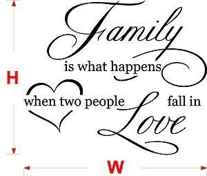 FAMILY LOVE vinyl wall quote - VINYL sticker - wall art XXL size N35 | eBay