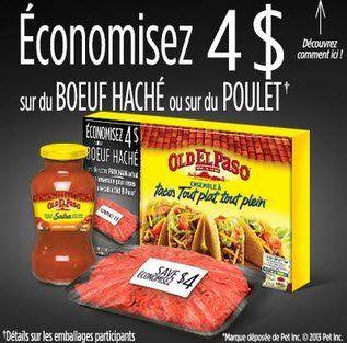 Coupon rabais de 4$ sur les produits El Paso