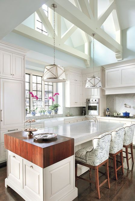 Beautiful cabled ceiling with natural light