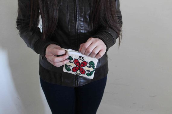 Coin Purse, Flower Palestinian Embroidery